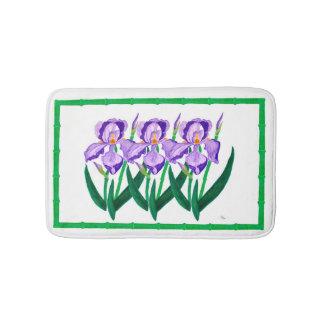 Alfombra de baño púrpura del jardín del iris