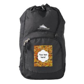 Alfombra de las hojas de otoño mochila