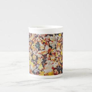Alfombra de las hojas de otoño taza de porcelana