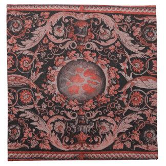 Alfombra de Savonnerie (roja) Servilletas Imprimidas