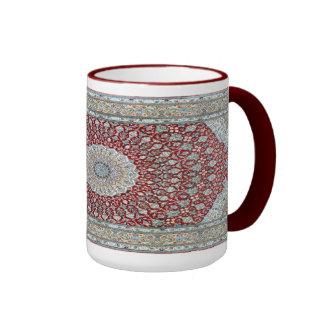 Alfombra persa en rojizo taza de dos colores