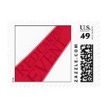 Alfombra roja blanca timbres postales