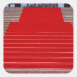 alfombra roja calcomanías cuadradases