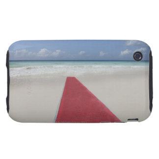 Alfombra roja en una playa carcasa though para iPhone 3