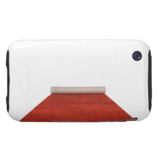 Alfombra roja parcialmente desenrollada funda resistente para iPhone 3