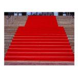 alfombra roja postal