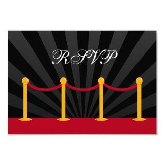 """Alfombra roja RSVP de Hollywood Invitación 3.5"""" X 5"""""""