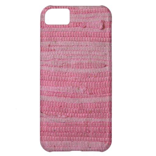Alfombra rosada funda para iPhone 5C