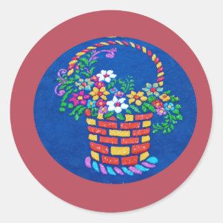 Alfombras de La Antigua 6 Classic Round Sticker