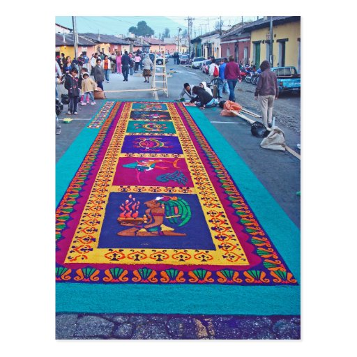 Alfombras de la antigua postcard zazzle for Alfombras de antigua