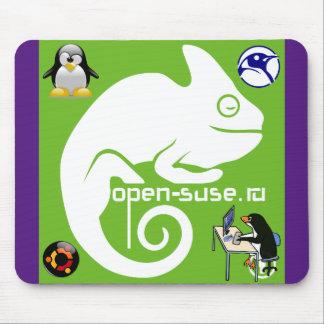alfombrilla de ratón camaleón, pingüino Linux