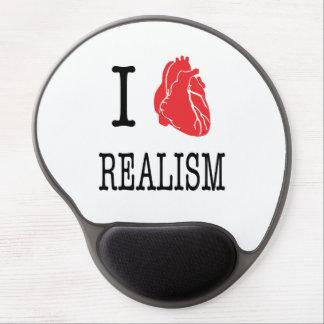 Alfombrilla de ratón con gel de I love realism