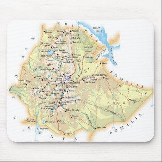 """Alfombrilla de ratón """"Mapa de Etiopía"""