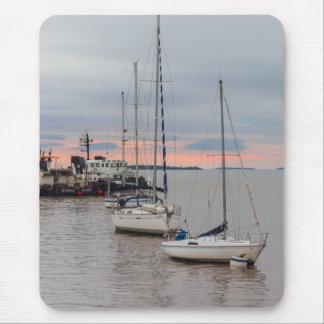 Alfombrilla de ratón - Puerto deportivo y Barcos #