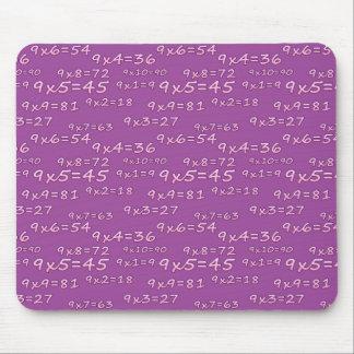 Alfombrilla: Tabla del 9 - Modelo morado Mouse Pads