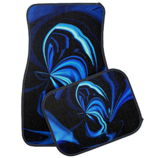 Alfombrillas de auto abstractas azules de alfombrilla de auto