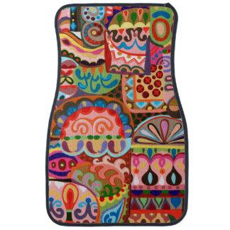Alfombrillas de auto abstractas coloridas - alfombrilla de coche