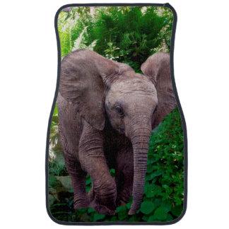 Alfombrillas de auto del elefante fijadas de 2 alfombrilla de auto