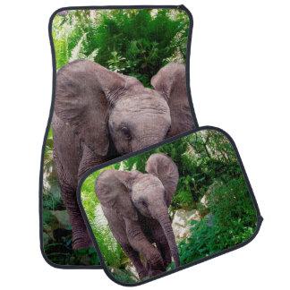 Alfombrillas de auto del elefante fijadas de 4 alfombrilla de auto