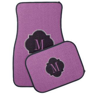 Alfombrillas de auto púrpuras de la orquídea alfombrilla de coche