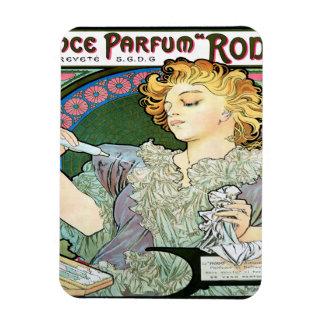 Alfons Mucha 1896 Lance Parfum Rodo Magnet