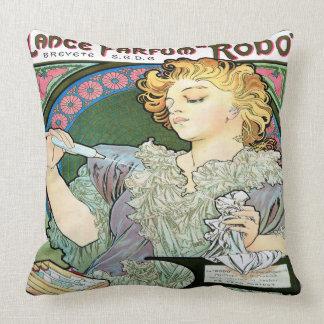 Alfons Mucha 1896 Lance Parfum Rodo Throw Pillow