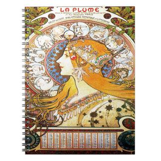 Alfons Mucha 1896 Zodiac Notebook