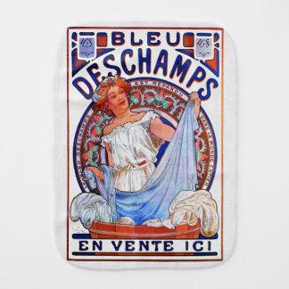 Alfons Mucha 1897 Bleu Deschamps Burp Cloth