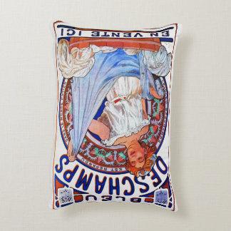 Alfons Mucha 1897 Bleu Deschamps Decorative Pillow