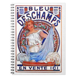 Alfons Mucha 1897 Bleu Deschamps Notebook