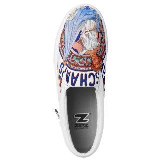 Alfons Mucha 1897 Bleu Deschamps Slip-On Sneakers
