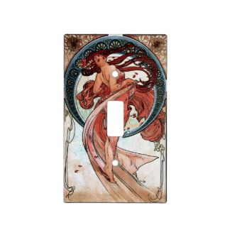 Alfons Mucha 1898 Dance Light Switch Cover