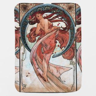 Alfons Mucha 1898 Dance Receiving Blanket