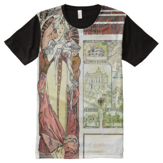 Alfons Mucha 1900 Austrian Pavilion All-Over-Print T-Shirt