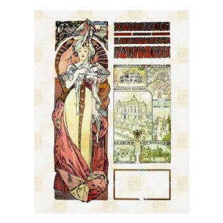 Alfons Mucha 1900 Austrian Pavilion Postcard