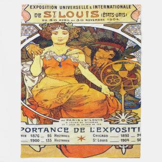 Alfons Mucha 1903 Exposition Universelle Fleece Blanket