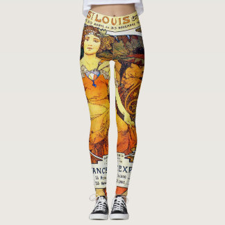 Alfons Mucha 1903 Exposition Universelle Leggings