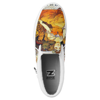 Alfons Mucha 1903 Exposition Universelle Slip-On Sneakers