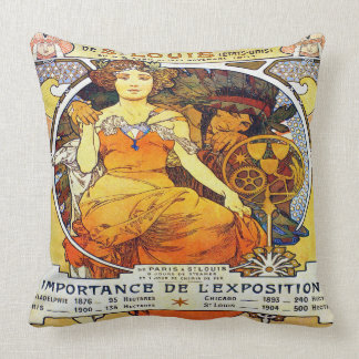Alfons Mucha 1903 Exposition Universelle Throw Pillow