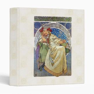 Alfons Mucha 1911 Princezna Hyacinta 3 Ring Binder