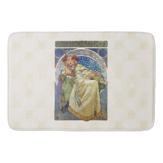 Alfons Mucha 1911 Princezna Hyacinta Bath Mat