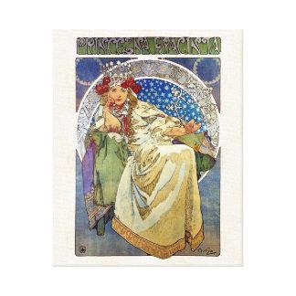 Alfons Mucha 1911 Princezna Hyacinta Canvas Print