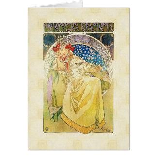 Alfons Mucha 1911 Princezna Hyacinta Card