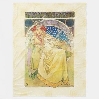 Alfons Mucha 1911 Princezna Hyacinta Fleece Blanket