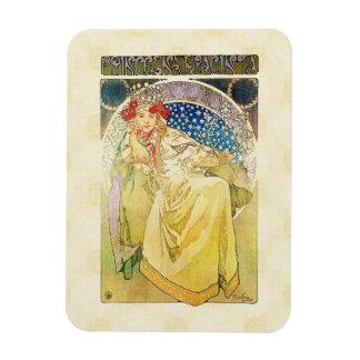 Alfons Mucha 1911 Princezna Hyacinta Magnet