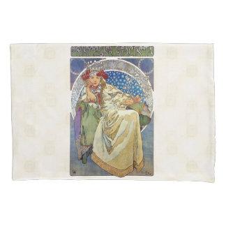 Alfons Mucha 1911 Princezna Hyacinta Pillowcase