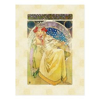 Alfons Mucha 1911 Princezna Hyacinta Postcard