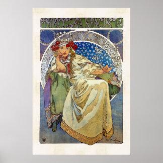 Alfons Mucha 1911 Princezna Hyacinta Poster