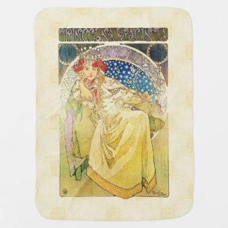 Alfons Mucha 1911 Princezna Hyacinta Receiving Blanket