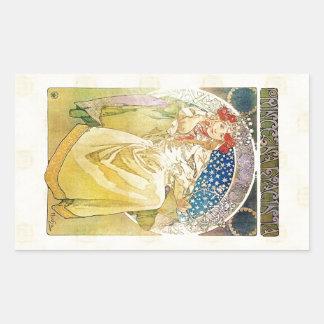 Alfons Mucha 1911 Princezna Hyacinta Rectangular Sticker